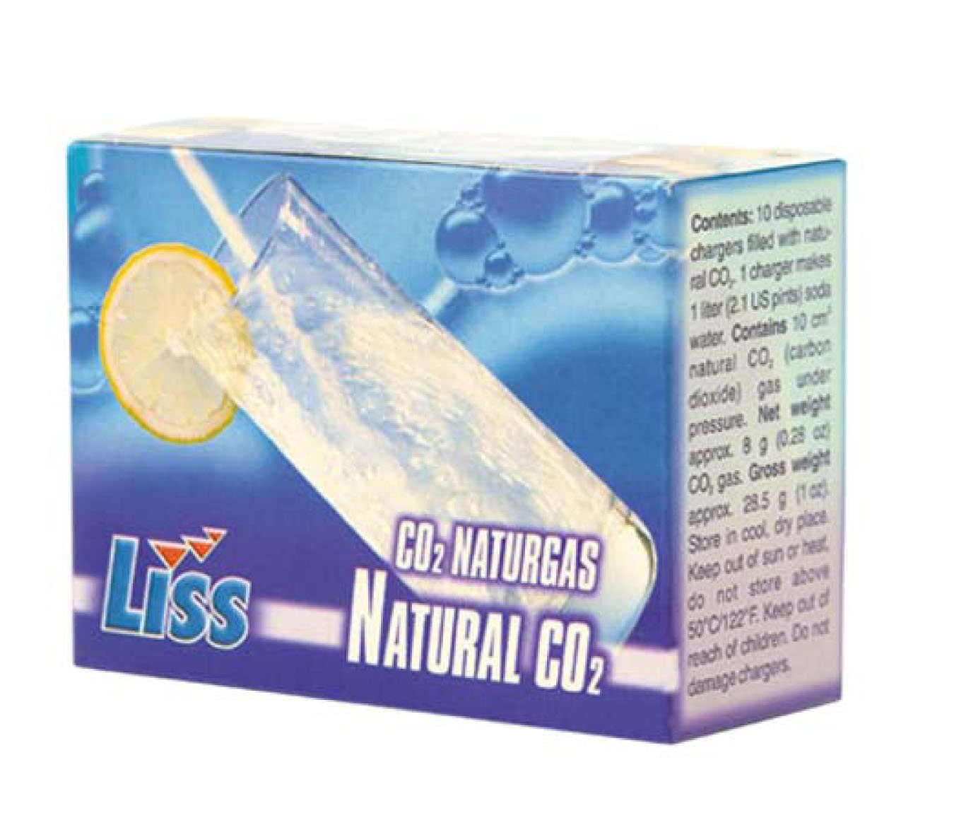 Liss CO2 Soda Siphon Charger Set 8 Gram 10 Pack by Liss