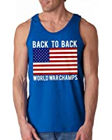 Back To Back World War Champs Tank Top (Royal, XX-Large)