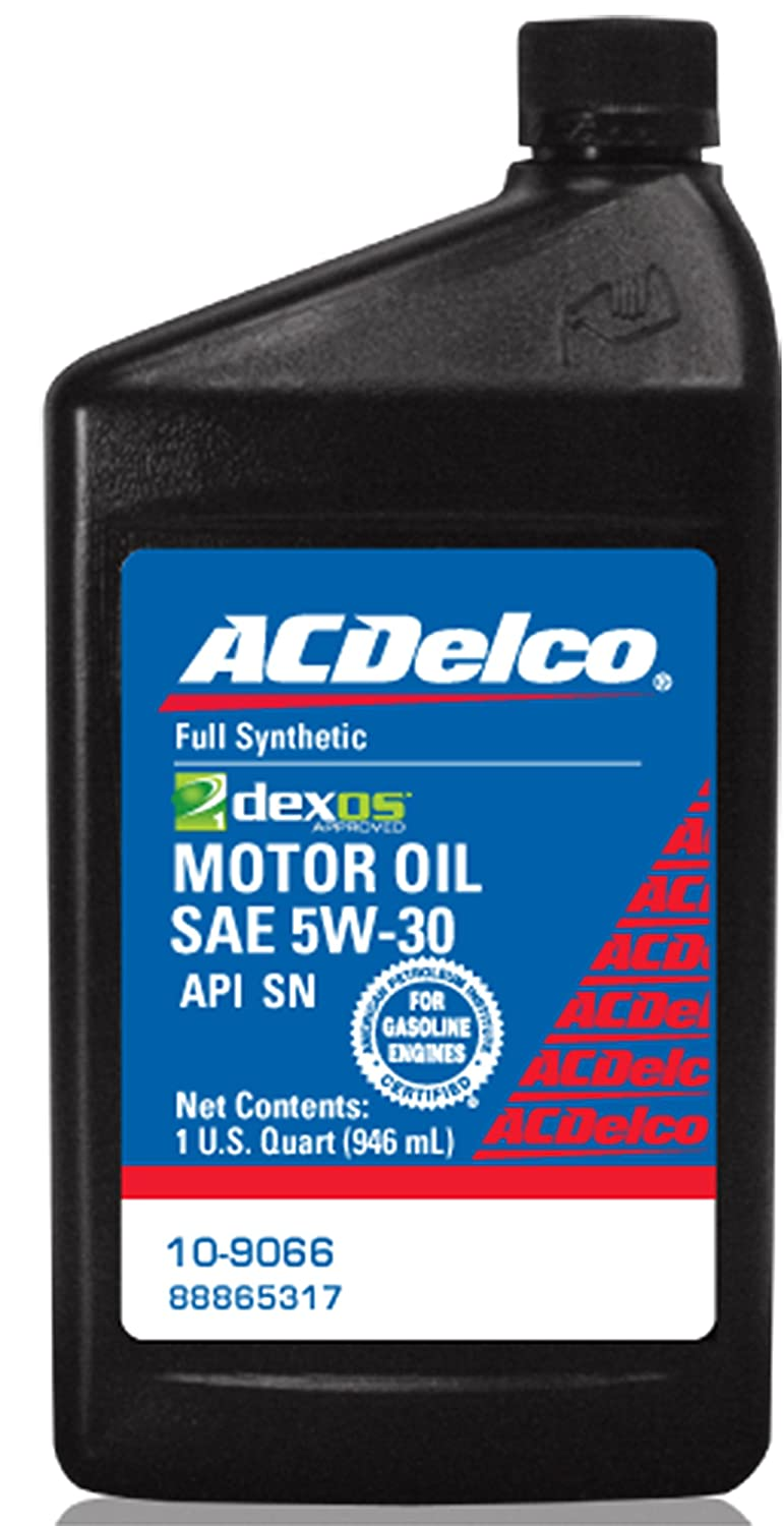 acdelco 10 9066 dexos1 5w 30 motor oil 1 qt fastest. Black Bedroom Furniture Sets. Home Design Ideas