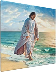 Gmamasim Home Jesus Picture Framed Canvas Home Artwork Decoration Be Still My Soul Posters for Living Room Bedroom Home Wall Decor Framed Art Ready to Hang Size 16x16 Inches