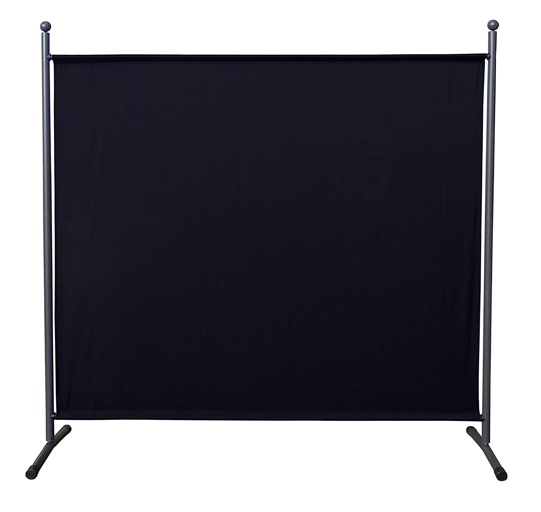 QUICK STAR Paravent 180 x 178 cm S/éparateur de tissu Jardin Balcon /Écran de confidentialit/é partition Noir