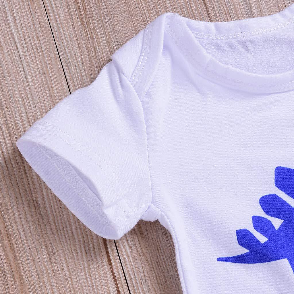 BeautyTop ❤v❤ 0-24 Monate Baby Jungen Sommer Rundhals Buchstabe Drucken Body Toddler Kinder Karikatur Gemustert Strampler Neugeborenes Baby Spielanzug Kinderkleidung Kleinkind Strampelanzug