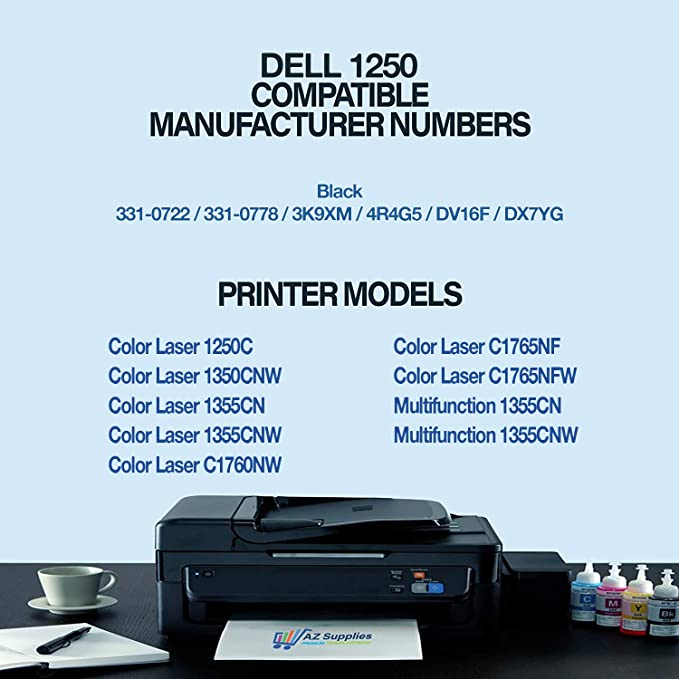 4 pack 3130 Color Set fits Dell 3130cn Color d Printer FREE SHIPPING!