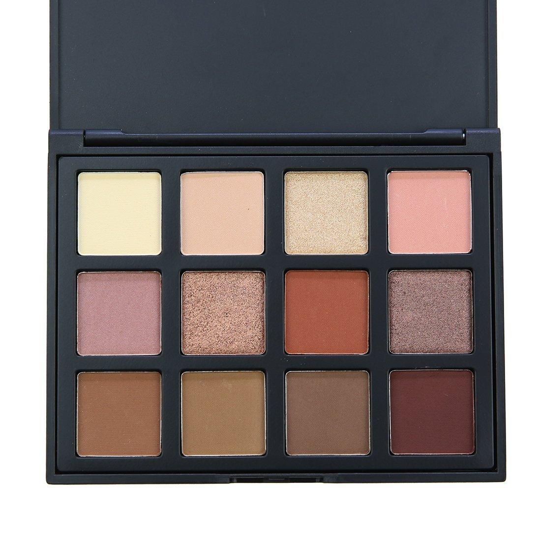 Paleta de sombras para ojos Lover Bar brillantes, 12colores cálidos, mate, neutral, ahumados, resistentes al agua