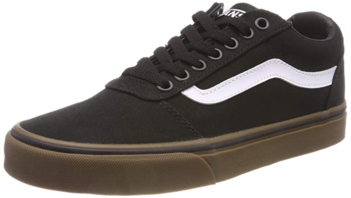 Vans Herren Ward Canvas Sneakers Schwarz Black/Gum 7hi