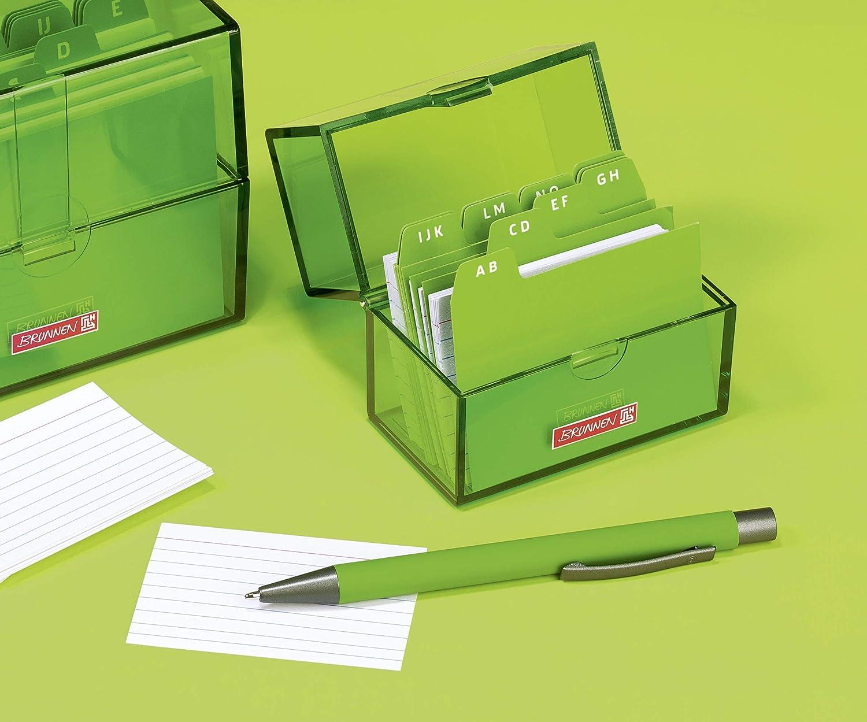 Tarjetero Brunnen 102058052 poliestireno, capacidad para tarjetas A8 de 8,5 x 7,5 x 4,8 cm color verde