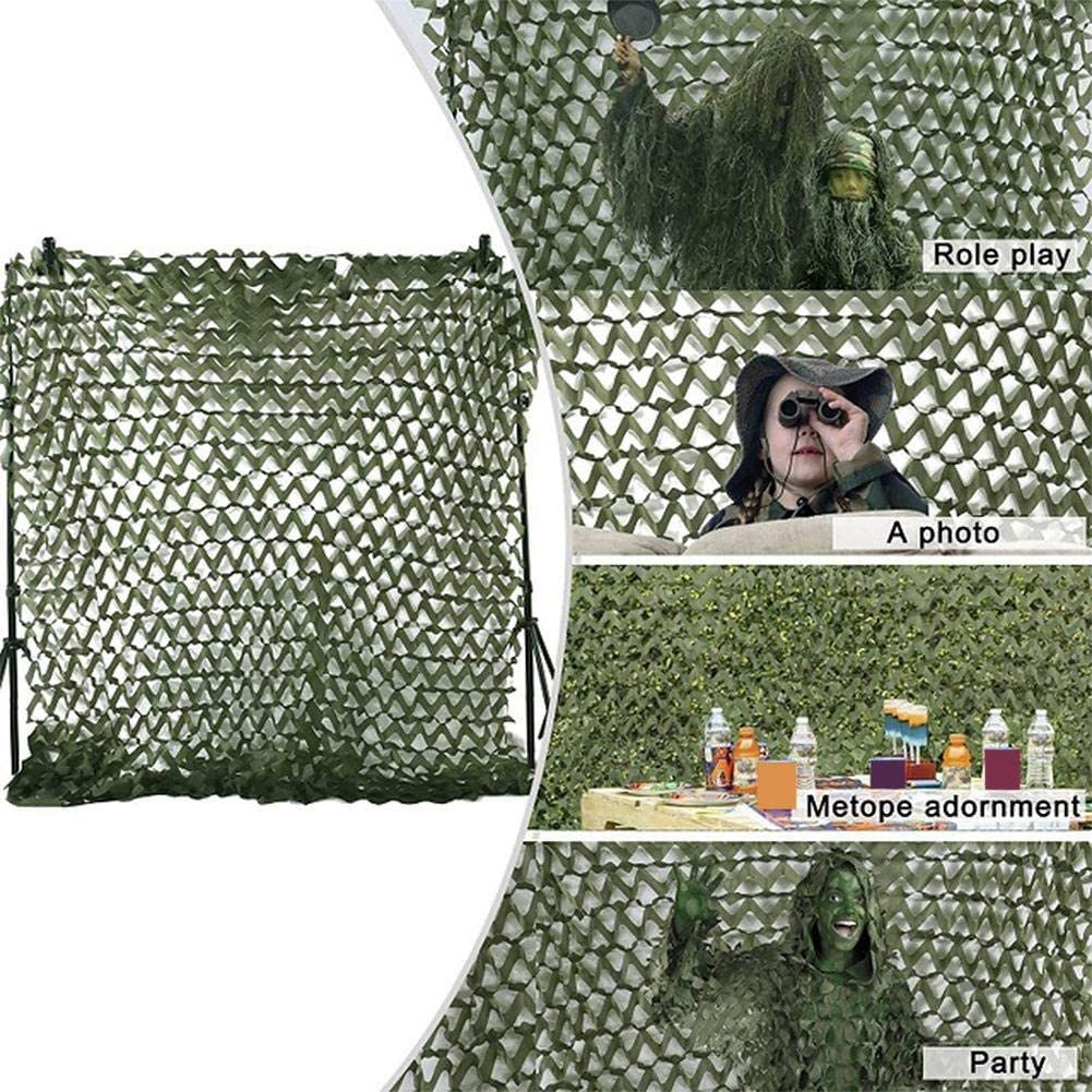 Woodland Camouflage Net, Camo Netting for Garden Decoration, Oxford Cloth Camping Shelters for Outdoor Sunshade Hunting Competition Military Exhibition (5ft x 5/7ft)