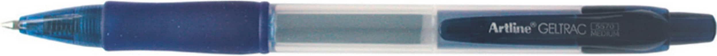 Artline 5570 Geltrac Gel Pen Retractable Medium Blue