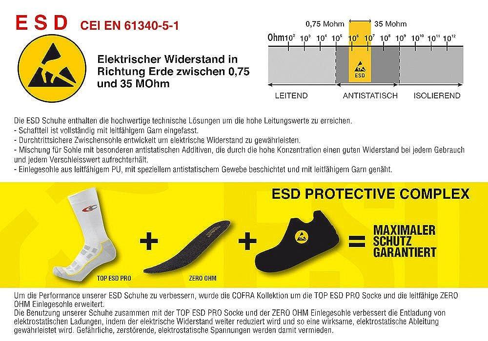 COFRA SRC Sicherheitsschuhe LYTIR S1P ESD SRC COFRA Metallfrei mit Boa® Schnürsystem Schwarz-lime 8d1bbe