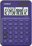 カシオ 電卓 12桁 (パープル)CASIO カラフル電卓 ミニジャストタイプ MW-C20C-PL