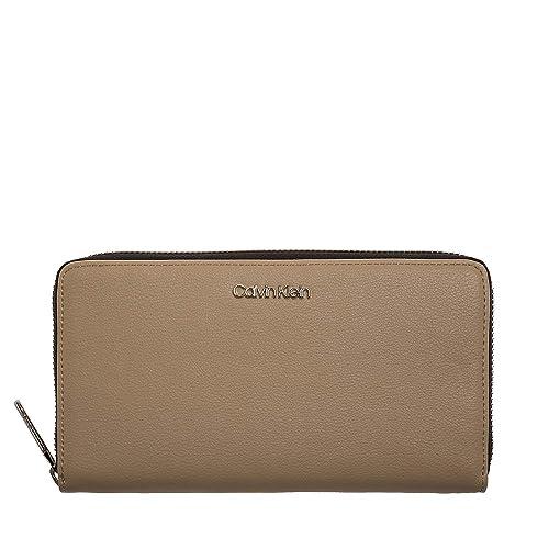 Calvin Klein Tack Large Zip Around XL Light Sand: Amazon.es: Zapatos y complementos