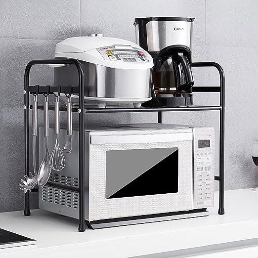 MDBYMX Horno microondas Rack de Cocina Horno de microondas Rack 2 ...