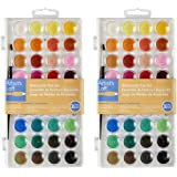 Artists Loft ZdbnZ Fundamentals Watercolor Pan Set, 36 Colors (2 Pack)