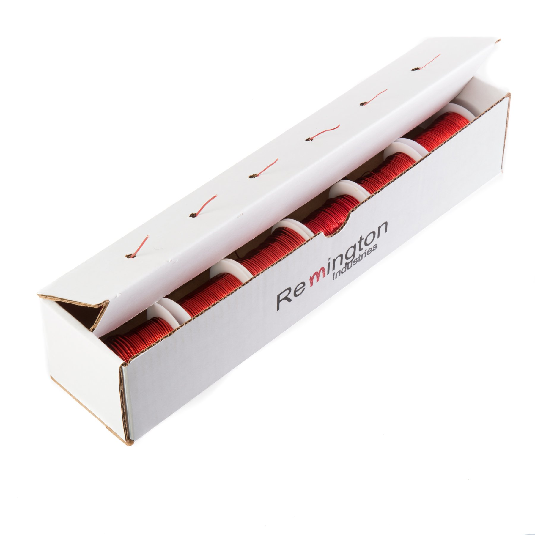 Remington Industries 1424MWKIT.25 Magnet Wire Kit, Enameled Copper Wire, 14, 16, 18, 20, 22, 24 AWG, 4 oz Each, Red by Remington Industries