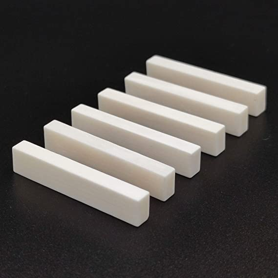 Guitar Bone Nut DIY String Acoustic nut Blank nut Blank Instrument Blank Nut Instrument Accessories 52x6x10mm 5pcs