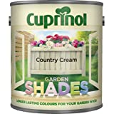 Cuprinol CUPGSHCC5L 5 Litre Garden Shades Paint - Country Cream