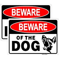 Joffreg Beware of Dog Sign,Dog Warning Sign,UV Protected and Weatherproof,Indoor Or Outdoor Use,20 x 30 cm,Reflective…