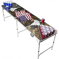Beer Pong Tisch Set - American Eagle Design - Beer Pong table inkl. 50 Red Solo Cups und 6 Bälle