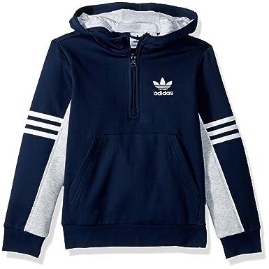 03cfbc7b1 adidas Originals Little Boy's Authentics Hoodie Sweater, collegiate navy/light  grey heather/white