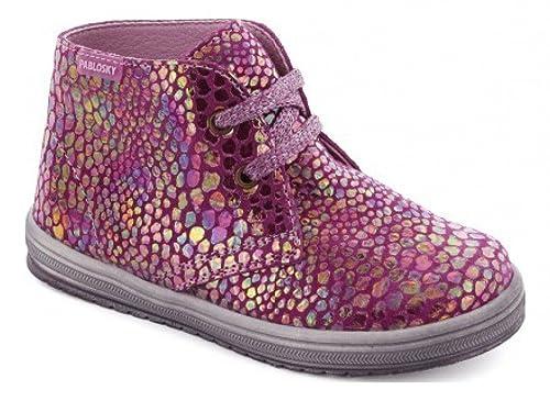 798e0ab5ce8 Pablosky, 094161, Bota blucher rosa de Niñas, talla 27: Amazon.es: Zapatos  y complementos