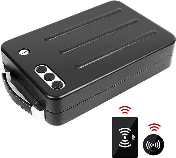 Jolitac Portable Steel Gun Safe Box Automatic RFID Card Sense