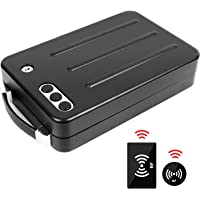 Jolitac Portable Steel Gun Safe Box Automatic RFID Card Sense, Metal Handgun Safe with Key Lock or 3 Digits Combination Safe Case, Black Smart Pistol Safe Handgun Security Quick Access for Car, Travel