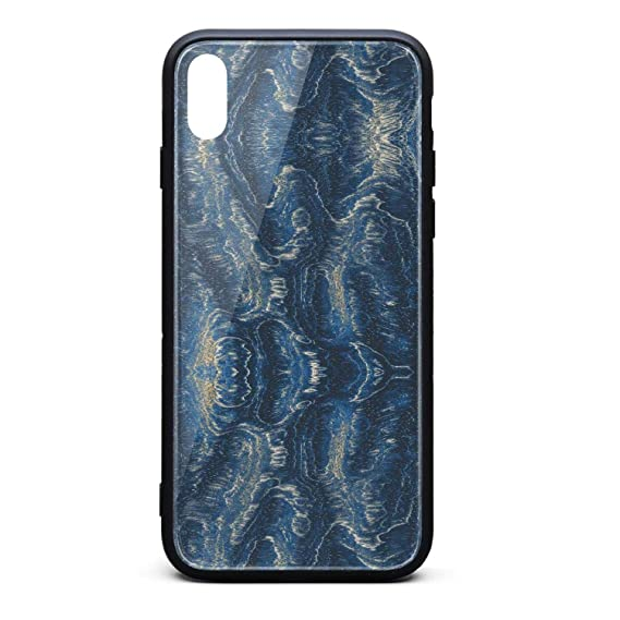 Amazon Com Iphone Xs Max Case 6 5 Inch Blue Wallpaper Marble