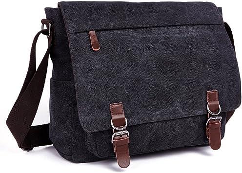 Vintage European Style Briefcase Shoulder Messenger Bag Messenger Bag School Bag Casual Bag Color : Green