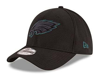 "a3caafbe35a627 Philadelphia Eagles New Era NFL 39THIRTY ""Black Tone Tech"" Flex  Fit Hat S"
