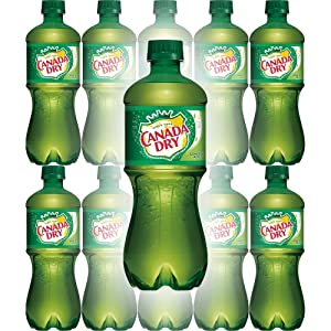 Canada Dry Ginger Ale, 20oz Bottle (Pack of 10, Total of 200 Oz)