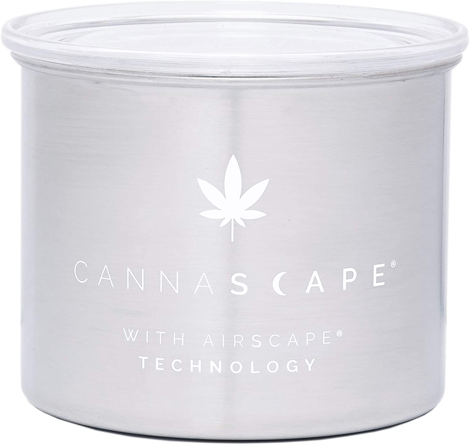 Planetary Design Cannascape Stainless Steel Herb Stash Storage Container. Airtight, preserves freshness of fresh flower or buds. Holds up to 1oz or more.