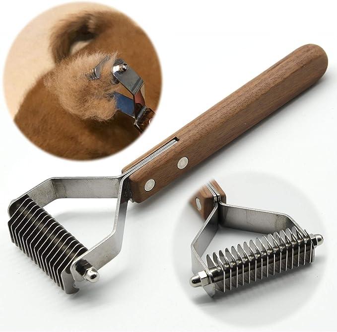 handmade horse//dog//animal//shedding//Grooming Tool//Comb//blade