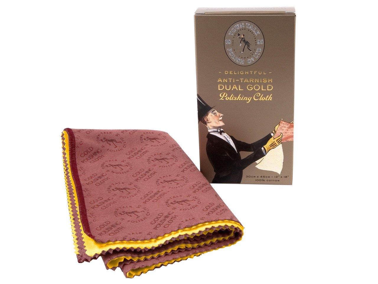 Town Talk Dual Gold Polishing Cloth 30 x 45 cm