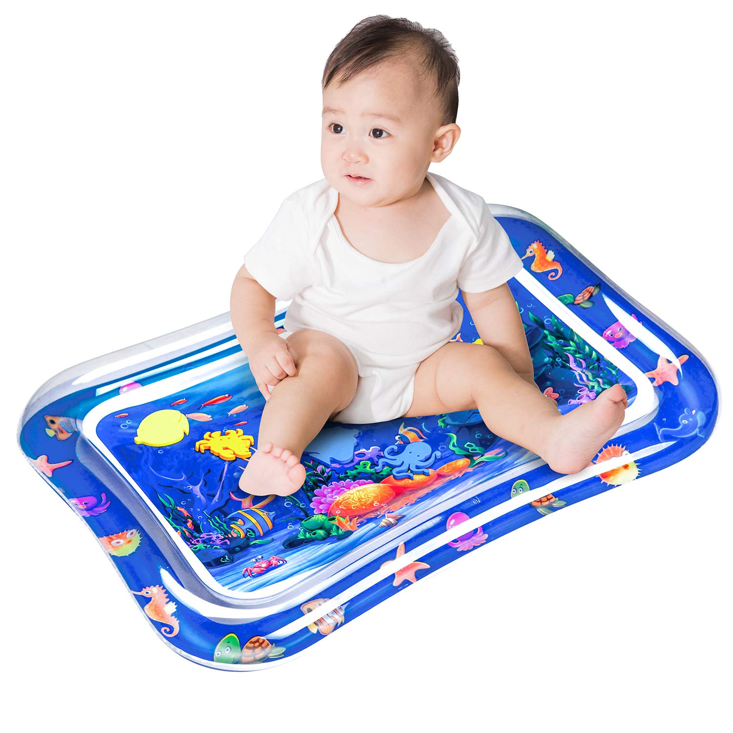 GTF Inflatable Tummy Time Premium Water mat Infants & Toddlers is The Perfect Fun time Play Activity Center Your Baby's Stimulation Growth
