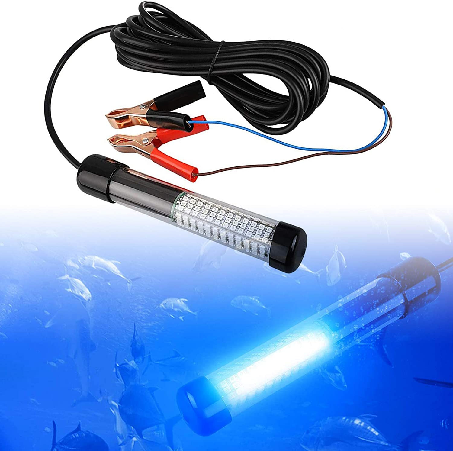 12V 180 LED BLUE UNDERWATER SUBMERSIBLE NIGHT FISHING LIGHT WITH 6M POWER CORD
