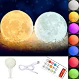 Amazon Price History for:Globalstore 3D Moon Lamp Baby Night Light Remote Control, White and Warm White with Adjustable 7 Colors Rechargeable and Timer(5.9Inch)
