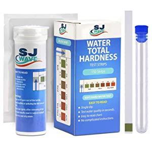Water Hardness Test Strips | 150 Strips for 150 Hard Water Tests, Fast and Accurate Water Quality Testing Kit for Water Softener, Pool, Aquarium and etc. 0-425 ppm and 0-25 gpg