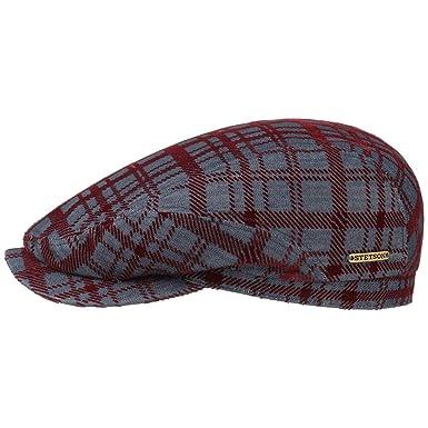 Stetson Flocked Denim Ivy Cap Cotton Flat hat (62 cm - Blue-Bordeaux ... 44bf34607114