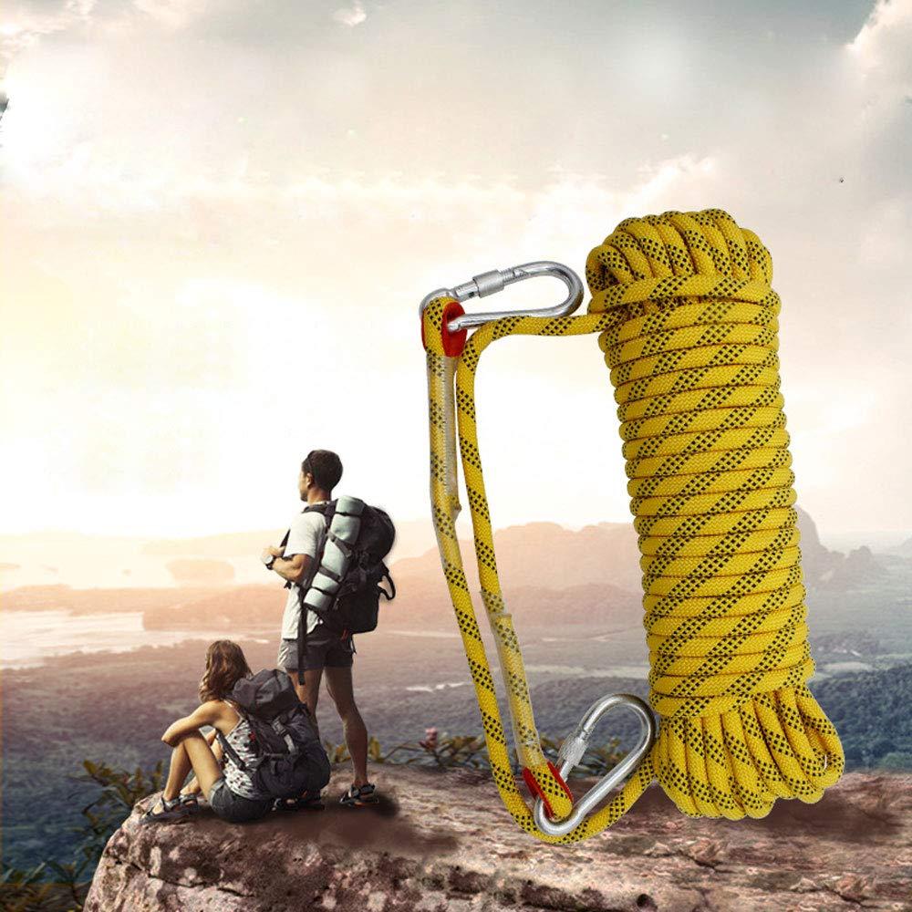 FITIN Felsenklang-Rope Outdoor-Bergsteigersicherheit Rubel Rubel Rubel Diameter10 12 14 16 18 20mm Heavy Duty Safety Durable Rope mit gesundichtem Schnallen und Carabiner,schwarz,10mm 30M B07MDMP3CW Einfachseile Komfortabel und natürlich 366e32