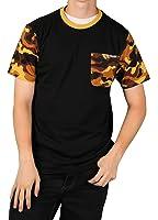 MO7 Men's Camo Sleeve Novelty Pocket T-Shirt