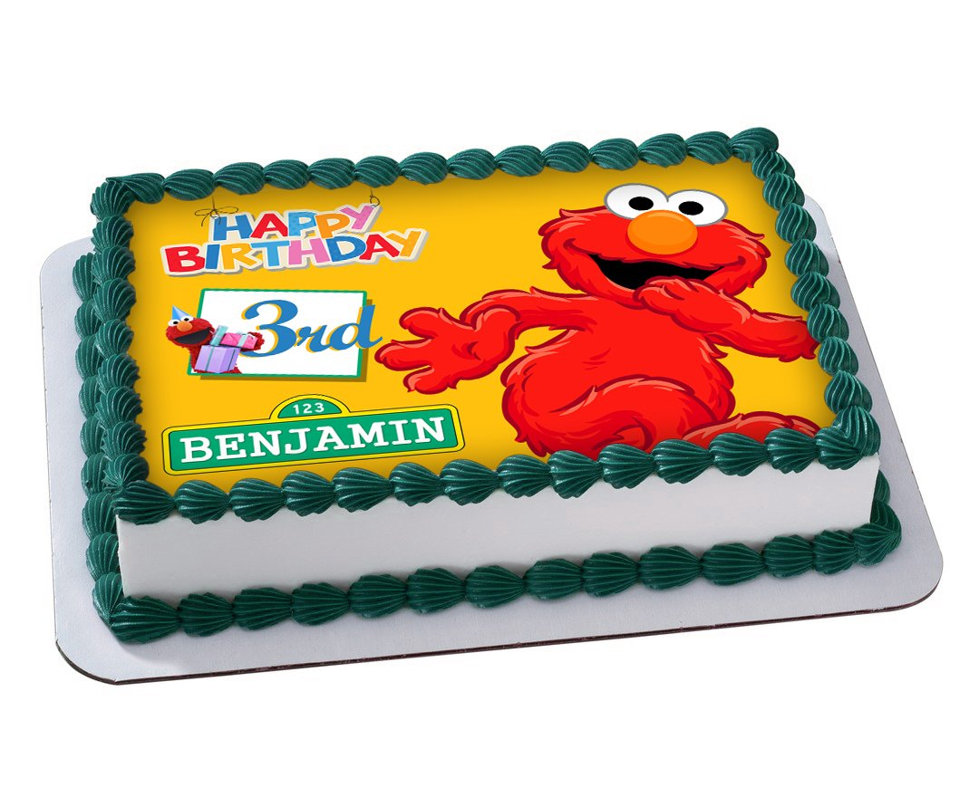 A4 ELMO EDIBLE ICING BIRTHDAY CAKE TOPPER