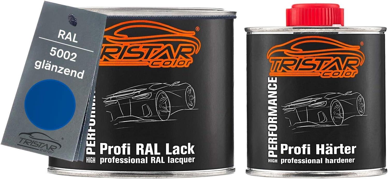 Tristarcolor Ral 5002 Ultramarinblau 2k Autolack Glänzend 0 75 Liter 750 Ml Dose Inkl Härter Auto