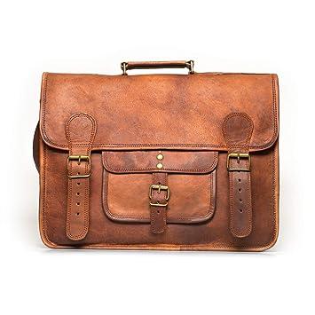 96964874b51857 NAMA 'Samuel' Schultertasche Echtes Leder 16 Zoll Messenger Bag Vintage  Aktentasche Business Tasche Unitasche