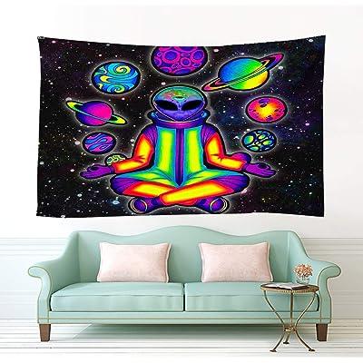 Buy Bit Better Alien Decor Tapestry Cool Psychedelic Alien Stuff Wall Art For Home Wall Hanging Alien Wall Tapestry For Bedroom Room Decor 51 59 In 130 150cm Online In Indonesia B08d64fdf6