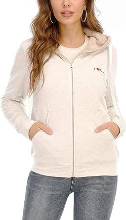 kooosin Women's Casual Winter Warm Soft Sherpa Lined Zip Up Hooded Sweatshirt Jacket Coat…