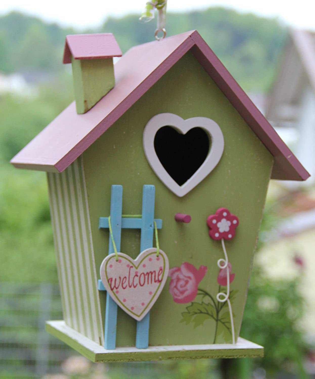 Dekorativer (N13) Nistkasten Herz-Grün Vogelhaus-Vogelhäuschen-sauberste Verarbeitung-Vogelhaus Handarbeit vom Schreiner