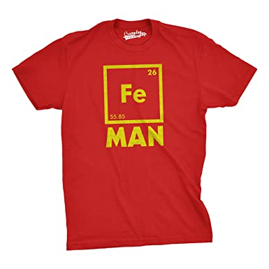 Amazon.com: Mens Iron Man Science T Shirt Cool Novelty Funny ...