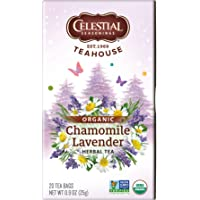 Celestial, Celestial Seasonings Té, Organic Chamomile Lavender, 25g, 25 gramos