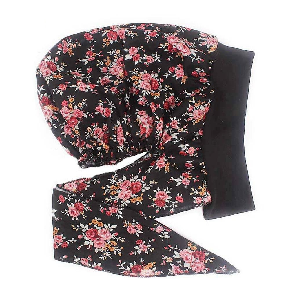Chemotherapie-Hut 22.83-23.62in Damen Elastic Hairband Turban Hat Baumwoll-Schlaf-Cap-Caps f/ür Frauen mit Chemo-Krebs-Haarausfall 58-60cm