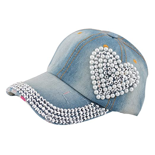 Egoodbest Women Loving Heart Bling Rhinestone Sport Jeans Baseball ... 6f0993cda2c1